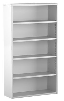 "Picture of Trace Metal 30""W 5 Shelf Open Bookcase"