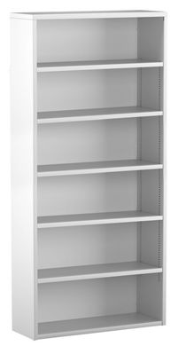 "Picture of Trace Metal 30""W 6 Shelf Open Bookcase"