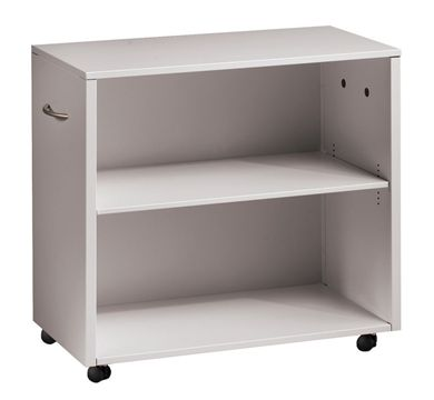 Picture of Trace Metal 2 Shelf Mobile Open Bookcase