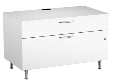 "Picture of Cayenne 2 Drawer Metal 42"" Low Storage Cabinet"