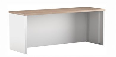 "Picture of 24"" x 72"" Metal Desk Shell with Full Modesty"