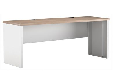"Picture of 24"" x 60"" Metal Desk Shell with Partial Modesty"
