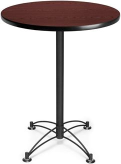 """Picture of 30"""" Round Black Base Cafe Table"""