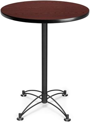 "Picture of 30"" Round Black Base Cafe Table"