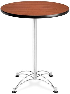"Picture of 30"" Round Chrome Base Cafe Table"