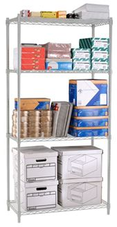"Picture of Complete 4-Shelf Unit 72"" x 48"" x 24"""