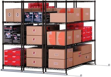 "Picture of X5 Lite - 3 4-Shelf Units, 48"" x 18"", Tracks Included"