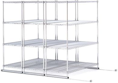 "Picture of X5 Lite - 3 4-Shelf Units, 48"" x 24"", Tracks Included"