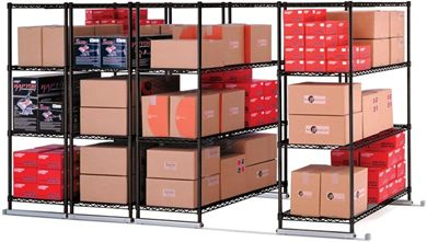 "Picture of X5 Lite - 4 4-Shelf Units, 36"" x 18"", Tracks Included"