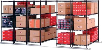 "Picture of X5 Lite - 5 4-Shelf Units, 48"" x 18"", Tracks Included"