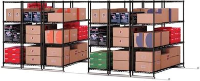 "Picture of X5 Lite - 6 4 Shelf Units, 48"" x 18"", Tracks Included"