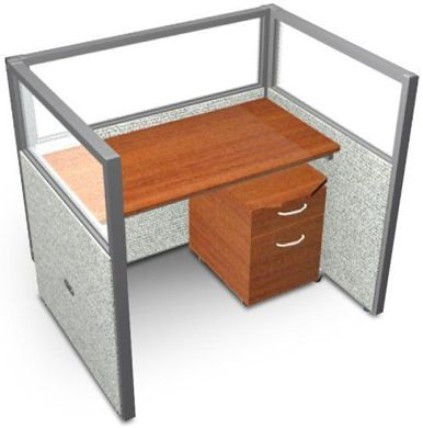 """Picture of 48"""" Staight Cubicle Desk Workstation"""