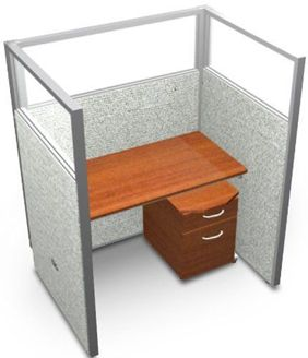 "Picture of 48"" Staight Cubicle Desk Workstation"