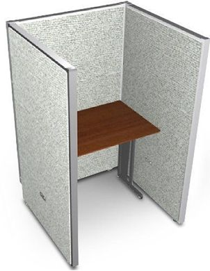 """Picture of 36"""" Straight Cubicle Desk Workstation"""