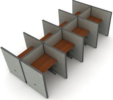 "Picture of Cluster of 8 Cubicle 36"" Straight Desk Workstation"