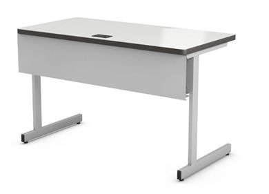 "Picture of Abco New Medley 20"" x 36"" Height Adjustable Training Table with Wire Management Tray"
