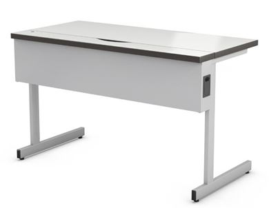 "Picture of Abco New Medley 24"" x 36"" Height Adjustable Training Table with Secure Wire Management Tray"