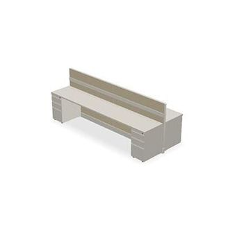 Picture of 4 Person Bench Seating Shared Cubicle Desk Workstation