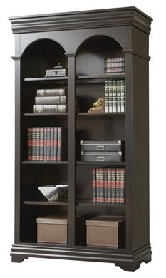 "Picture of 78""H Five Shelf Veneer Open Bookcase"
