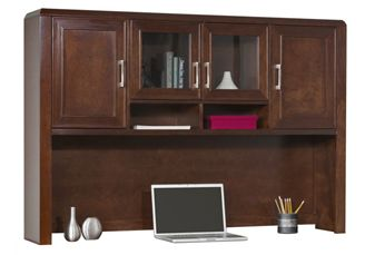 "Picture of 65""W Veneer Overhead Closed Storage Hutch"