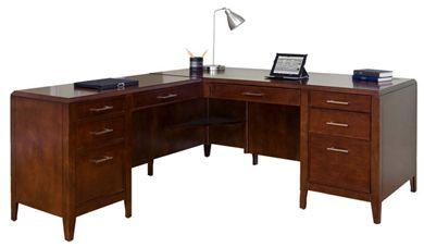"""Picture of 68"""" L Shape Veneer Office Table Desk Workstation"""
