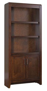 """Picture of 74""""H Three Adjustable Shelves with 2 Door Bookcase"""