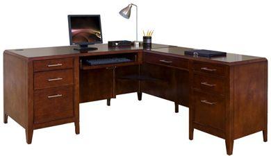 """Picture of 68"""" L Shape Veneer Office Table Desk Workstation, Left Hand"""