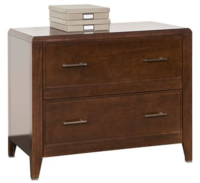 "Picture of 36""W 2 Drawer Veneer Lateral File Cabinet"