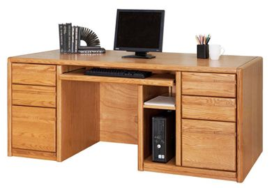 "Picture of Contemporary 68"" Double Pedestal Computer Office Desk Worstation"