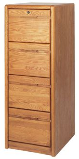 Picture of Contemporary Veneer 4 Drawer Vertical File Cabinet