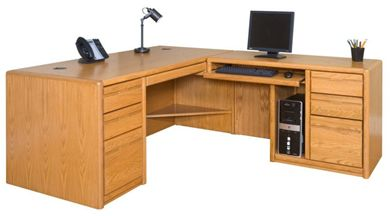 Picture of Contemporary Veneer L Shape Office Desk Workstation, Right Hand