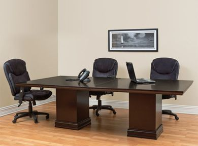 """Picture of Traditional 48"""" x 96"""" Expandable Rectangular Veneer Conference Table"""