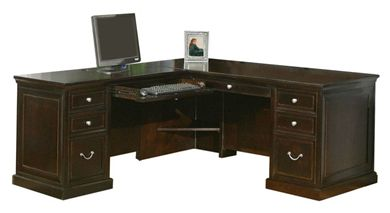 Picture of Traditional L Shape Office Desk Workstation, Left Hand