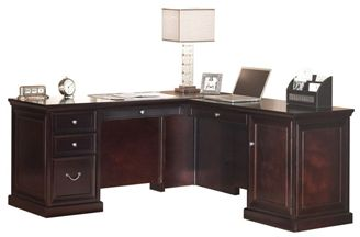 """Picture of Traditional 68"""" L Shape Office Desk Workstation, Right Hand"""