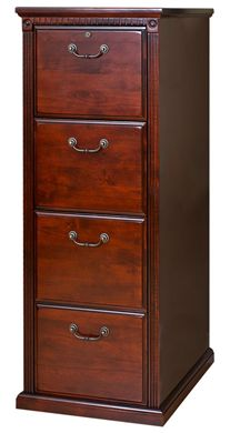 Picture of Transitional Veneer 4 Drawer Vertical File Storage