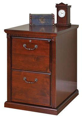Picture of Transitional Veneer 2 Drawer Vertical File Storage