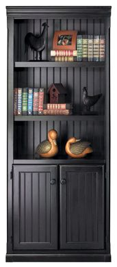 Picture of Hardwood 5 Shelf Open Bookcase with Lower Doors