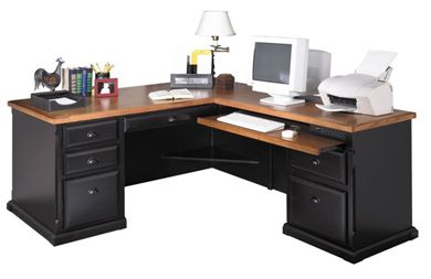 Picture of Hardwood L Shape Office Desk Workstation, Righ Hand Facing
