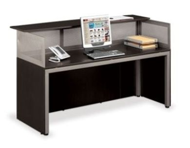 """Picture of Sleek Contemporary 72"""" Straight Reception Desk Workstation"""