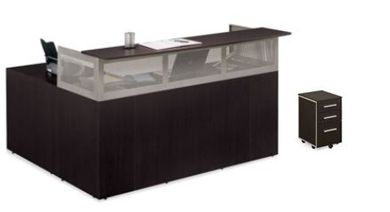 """Picture of Sleek Contemporary 72"""" Reception Desk with Right Return"""