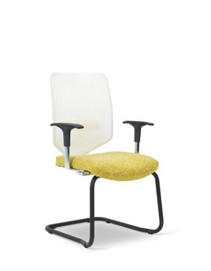 Picture of Mesh Back Sled Base Guest Arm Chair