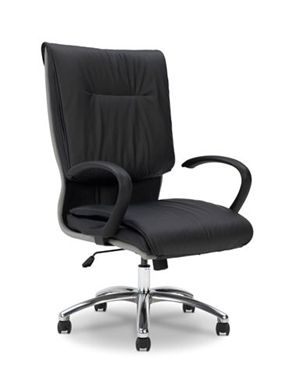 Picture of Pillow Top High Back Office Conference Chair with Aluminum Base