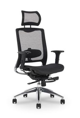 Picture of All Mesh High Back Headrest Office Task Chair with Adjustable Lumbar Support