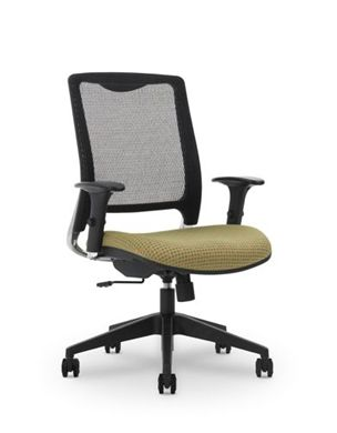 Picture of Air Mesh High Back Office Task Swivel Chair with Adjustable Arms