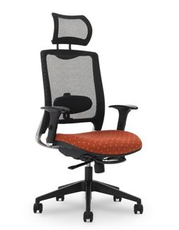 Picture of Air Mesh High Back Headrest Office Task Swivel Chair with Adjustable Arms