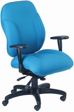 Picture of Heavy Duty High Back Office Task Swivel Chair with Curve Seat