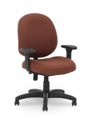 Picture of Contour Seat Office Task Swivel Arm Chair