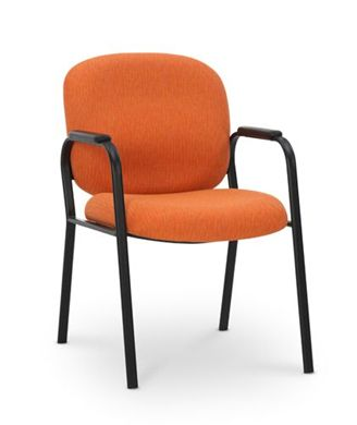 Picture of 4 Leg Guest Side Visitor Arm Chair with Arm Caps