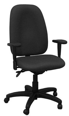 Picture of Office Task High Back Swivel Arm Chair with Adjustable Back