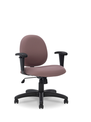 Picture of Comfortable Low Back Office Task Swivel Chair with Adjustable Arms